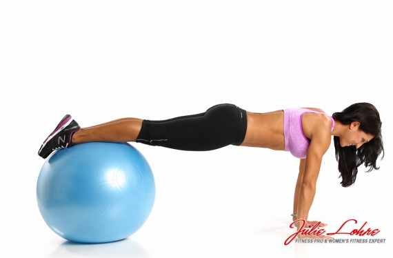 Ball Curl Ups for Abs Start