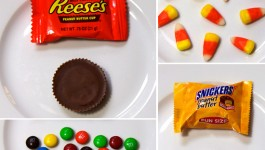 What does 100 calories of Halloween Candy look like?