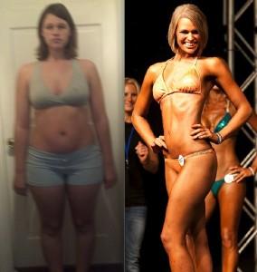 Emily Albert NPC Bikini Competitor Before and After