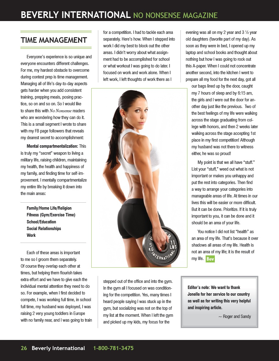 Julie Lohre Jonelle Baglia Fitness Magazine Feature
