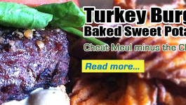 Turkey Burger & Baked Sweet Potato Fries