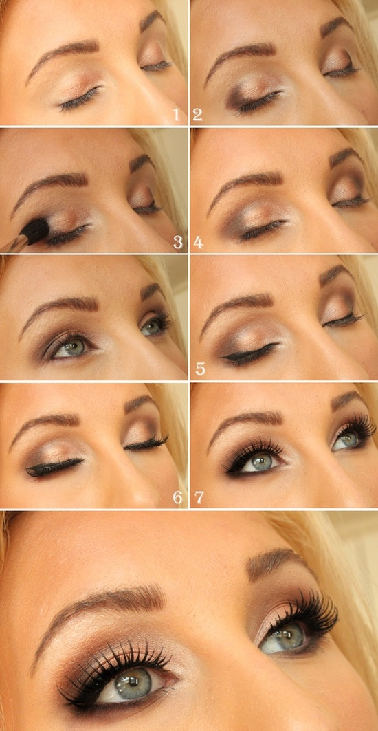Eye makeup for blondes with green eyes